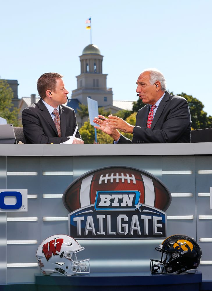 The BTN Tailgate does a live show Saturday, September 22, 2018 at Hubbard Park on the University of Iowa Campus. (Brian Ray/hawkeyesports.com)
