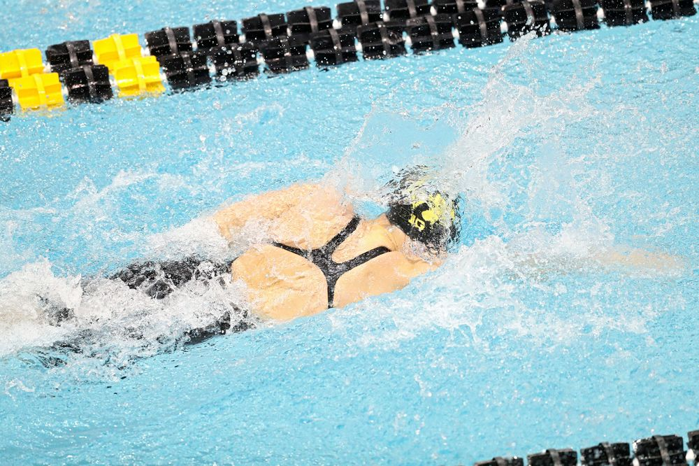 Iowa's Hannah Burvill swims the women's 50 yard freestyle C finals event during the 2020 Women's Big Ten Swimming and Diving Championships at the Campus Recreation and Wellness Center in Iowa City on Thursday, February 20, 2020. (Stephen Mally/hawkeyesports.com)