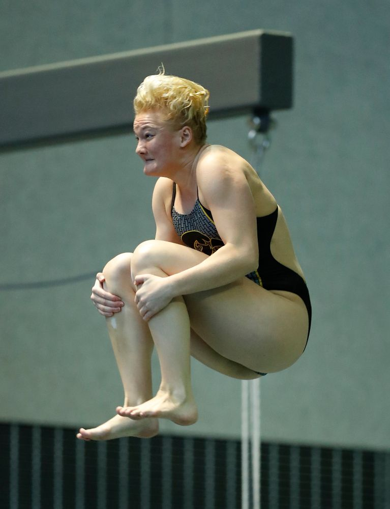 Iowa's Thelma Strandberg competes on the 3 meter springboard