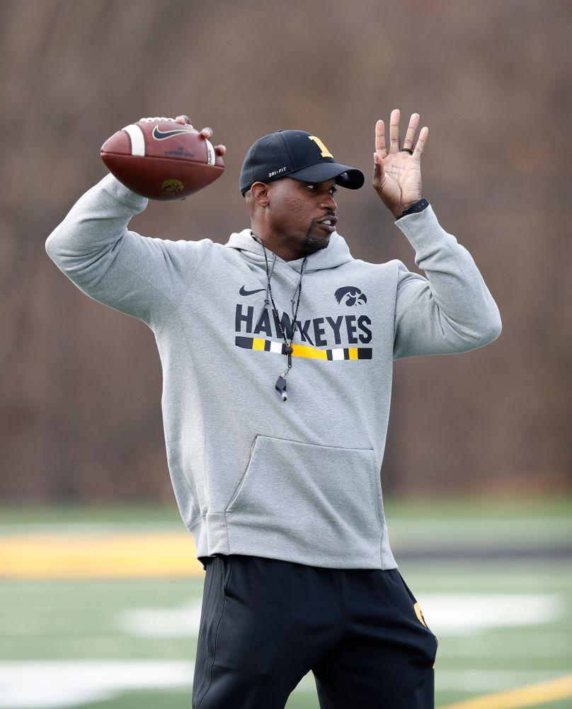Iowa Hawkeyes wide receivers coach Kelton Copeland