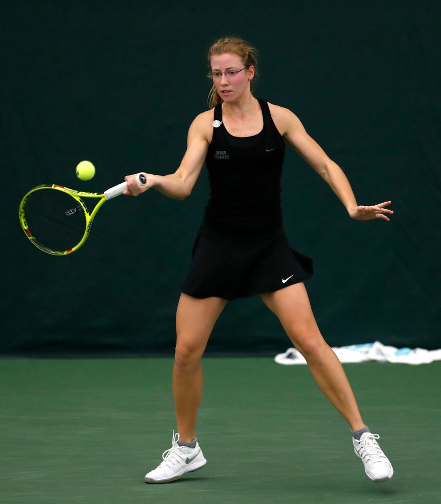 Montana Crawford against Ohio State Sunday, March 25, 2018 at the Hawkeye Tennis and Recreation Center. (Brian Ray/hawkeyesports.com)
