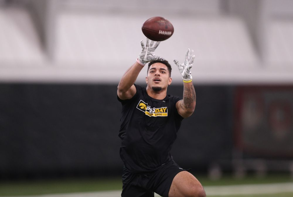 Iowa Hawkeyes defensive back Amani Hooker (27) during the teamÕs annual Pro Day Monday, March 25, 2019 at the Hansen Football Performance Center. (Brian Ray/hawkeyesports.com)