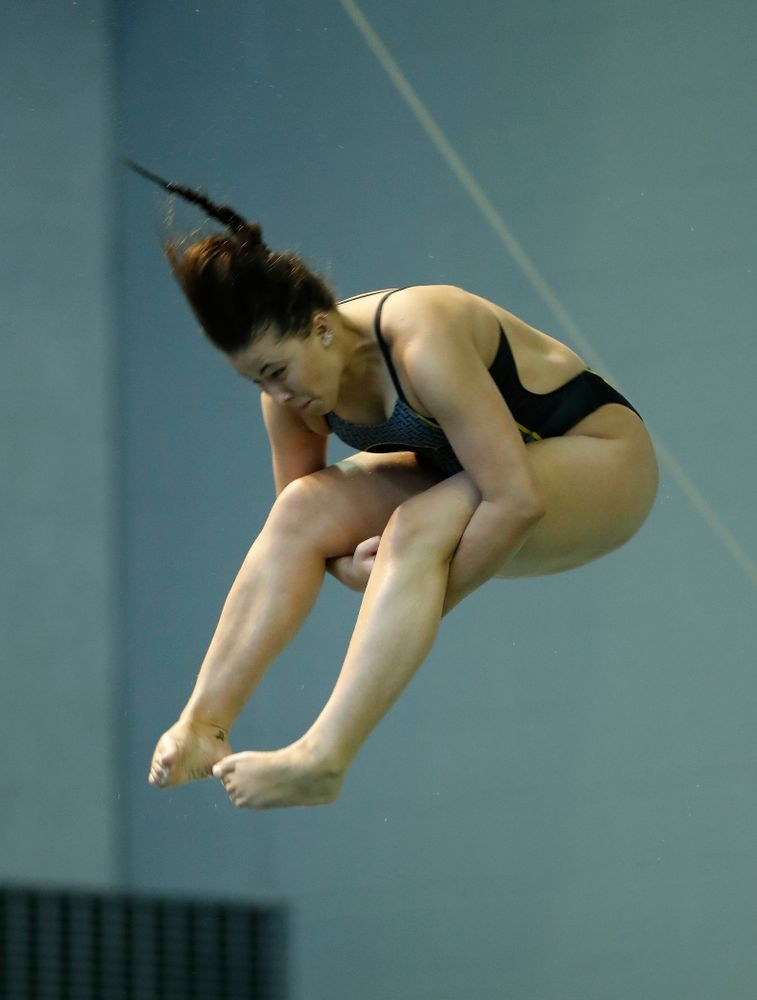 Iowa's Jayah Mathews competes on the 3 meter springboard