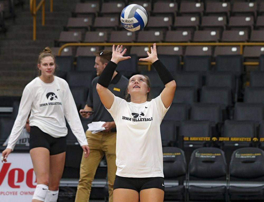 Iowa's Joslyn Boyer (1) during Iowa Volleyball's Media Day at Carver-Hawkeye Arena in Iowa City on Friday, Aug 23, 2019. (Stephen Mally/hawkeyesports.com)