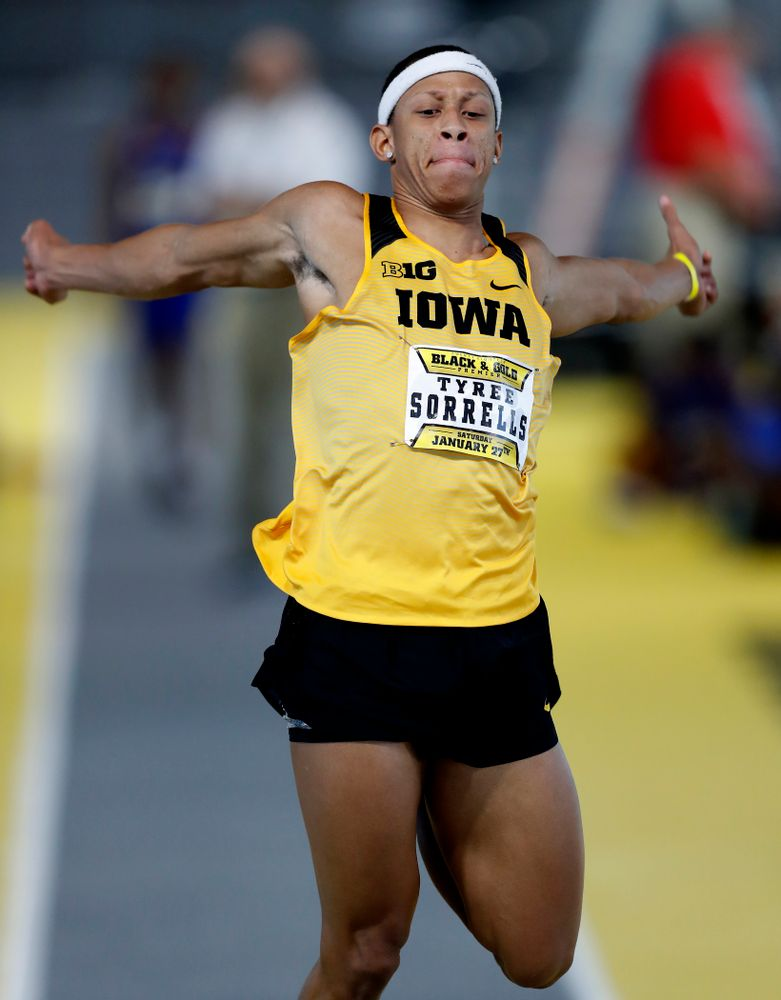 Tyree Sorrells competes in the long jump