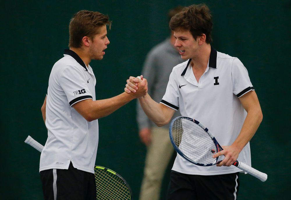 Iowa's Will Davies and Piotr Smietana