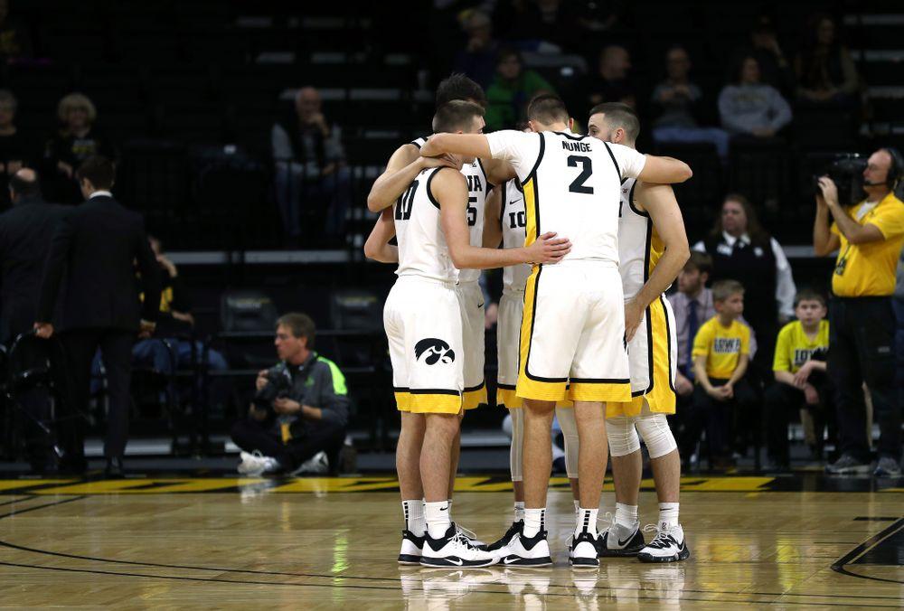 The Iowa Hawkeyes against North Florida Thursday, November 21, 2019 at Carver-Hawkeye Arena. (Brian Ray/hawkeyesports.com)
