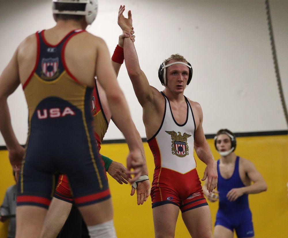 157 -- Kaleb Young tech. fall Preston Stephenson, 19-4