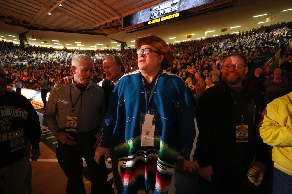 Royce Alger in the alumni tunnel before the Iowa Hawkeyes meet against Oklahoma State's at pounds Sunday, February 23, 2020 at Carver-Hawkeye Arena. (Brian Ray/hawkeyesports.com)
