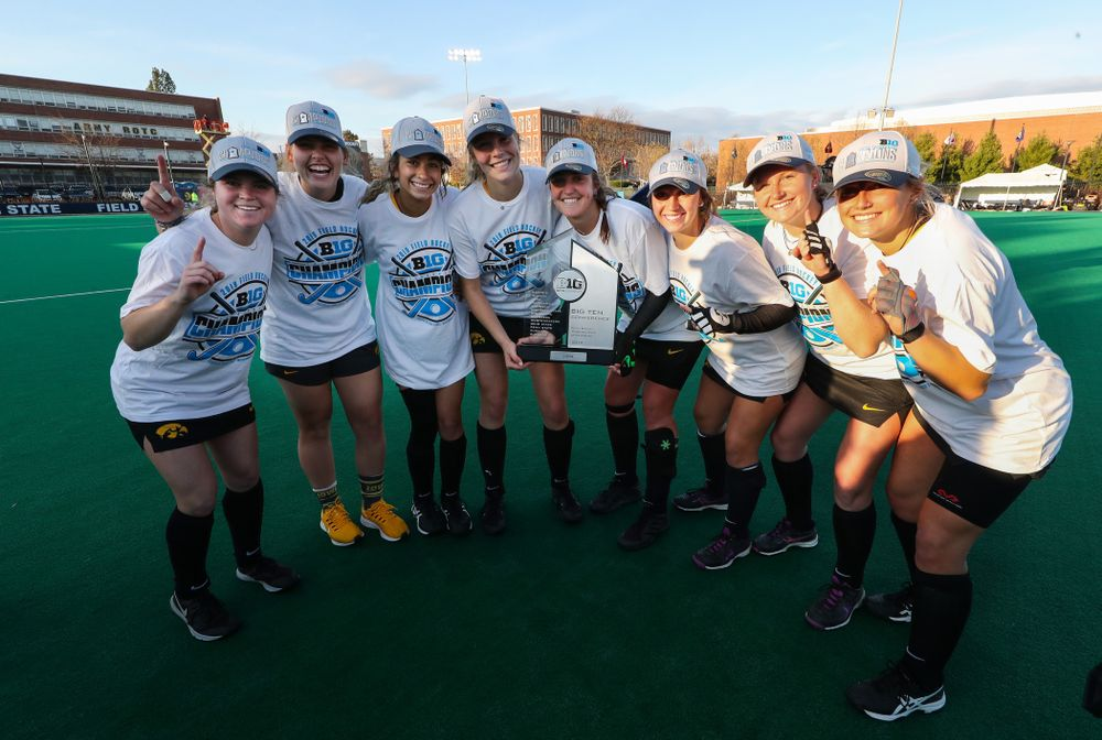 The Iowa Field Hockey sophomores following their game against Penn State in the 2019  Ten Field Hockey Tournament Championship Game Sunday, November 10, 2019 in State College. (Brian Ray/hawkeyesports.com)