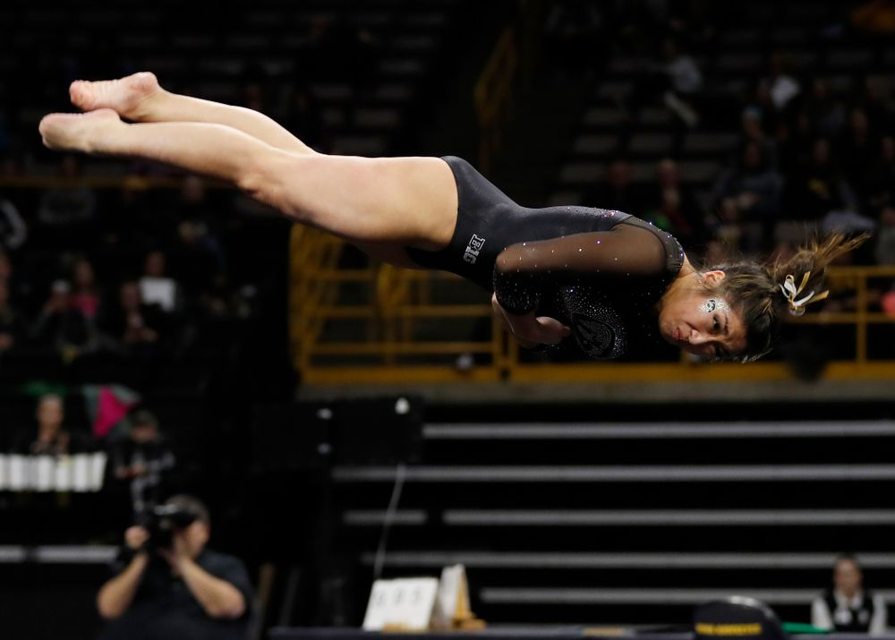 Nicole Chow competes on the floor