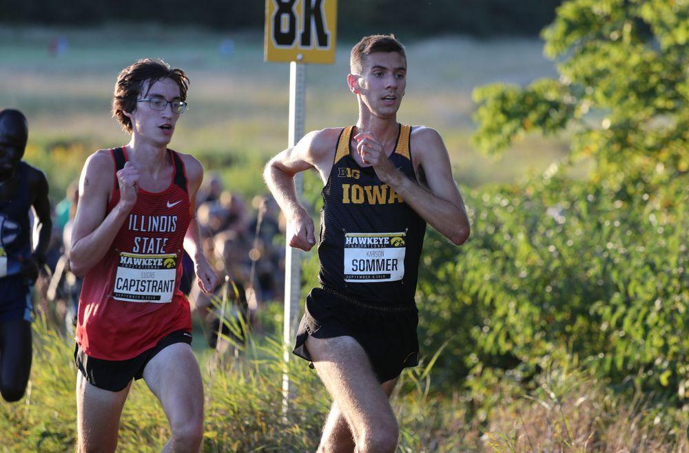 IowaÕs Karson Sommer runs in the 2019 Hawkeye Invitational Friday, September 6, 2019 at the Ashton Cross Country Course. (Brian Ray/hawkeyesports.com)