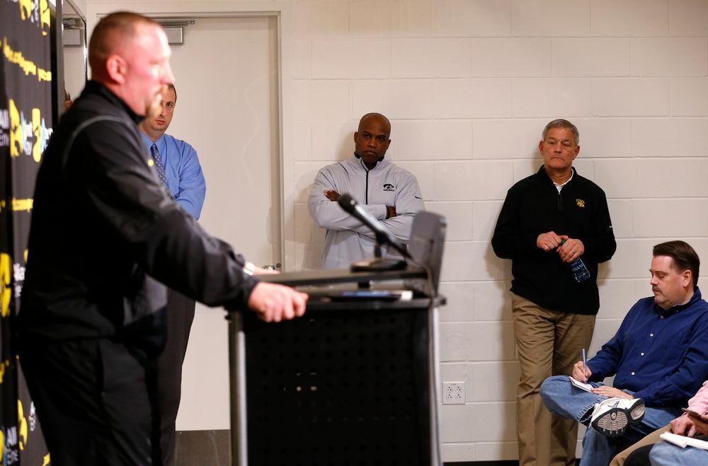 Head Coach Kirk Ferentz, Kelton Copeland