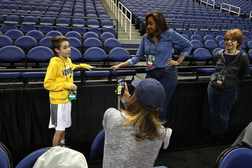 Big Ten Boy Jack talks with ESPN during media and practice as they prepare for their Sweet 16 matchup against NC State Friday, March 29, 2019 at the Greensboro Coliseum in Greensboro, NC.(Brian Ray/hawkeyesports.com)