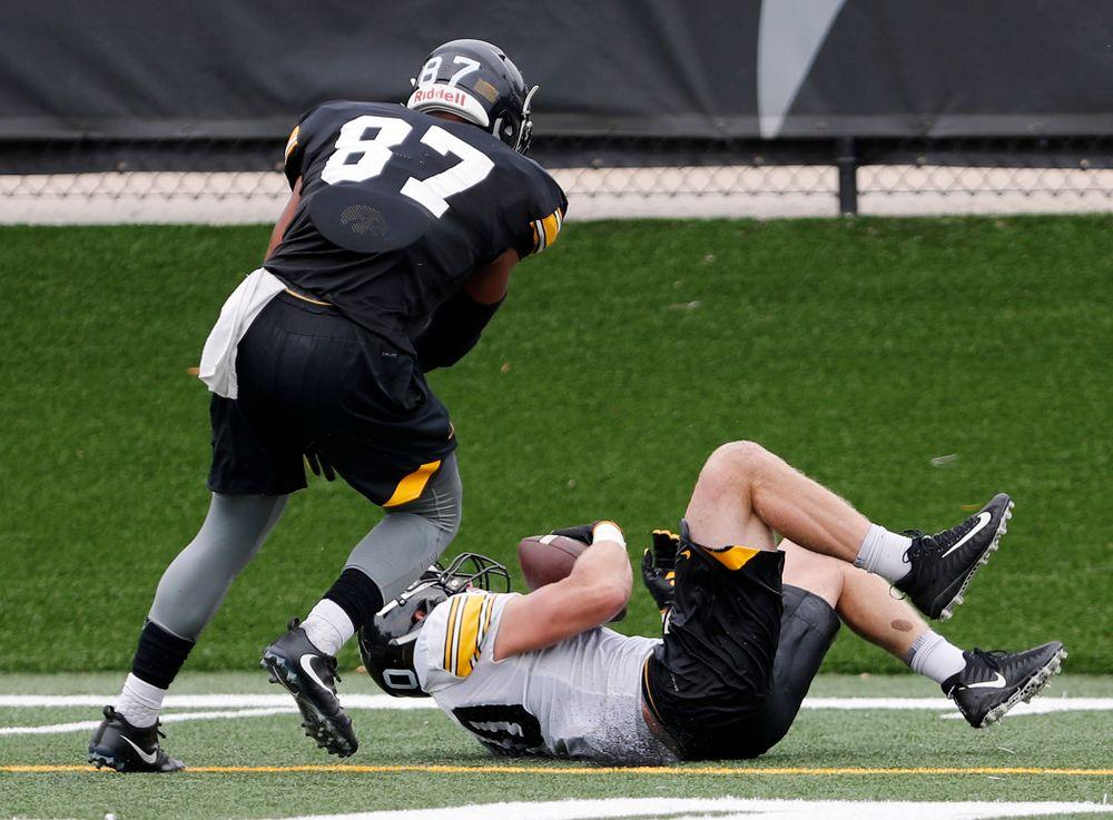 Jake Gervase with a diving interception