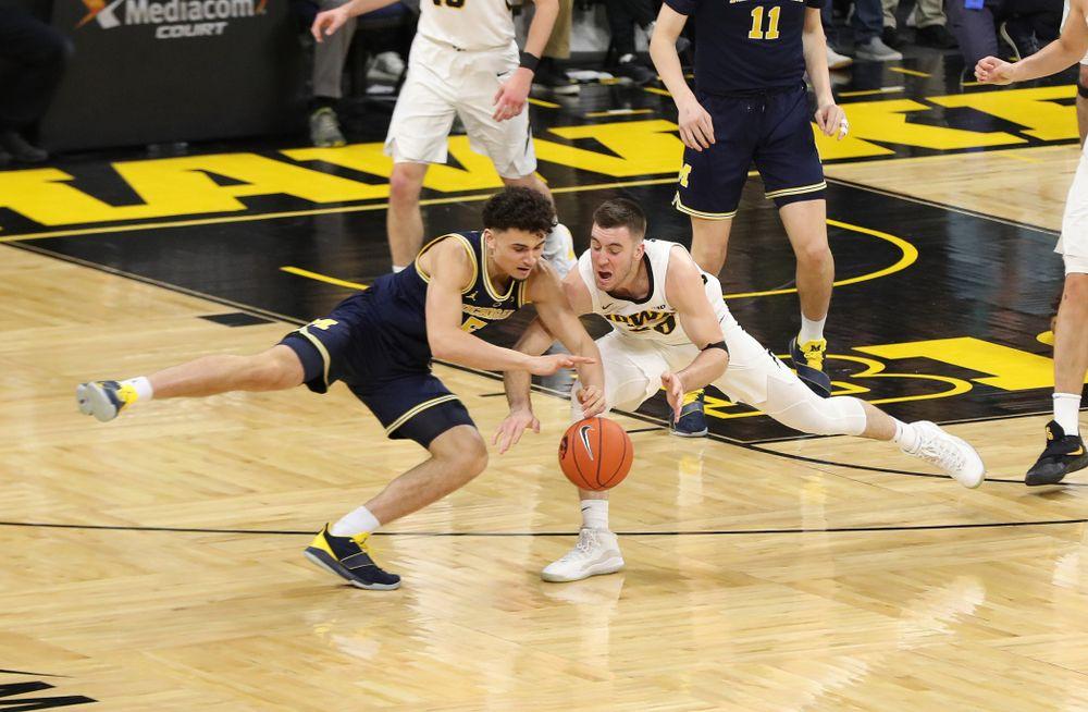 Iowa Hawkeyes guard Connor McCaffery (30) against the Michigan Wolverines Friday, February 1, 2019 at Carver-Hawkeye Arena. (Brian Ray/hawkeyesports.com)
