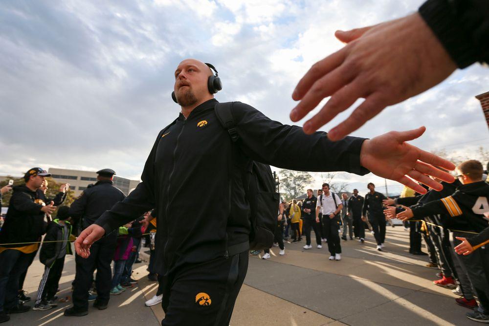 Iowa Hawkeyes fullback Brady Ross (36) during Iowa football vs Purdue on Saturday, October 19, 2019 at Kinnick Stadium. (Lily Smith/hawkeyesports.com)