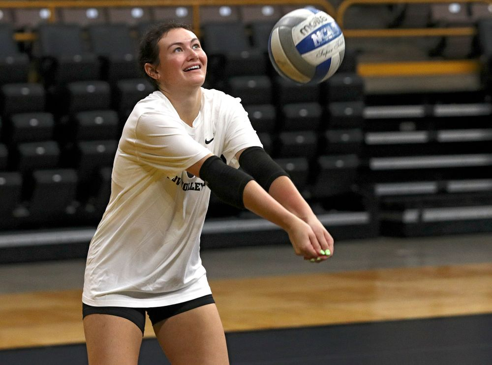 Iowa's Halle Johnston (4) during Iowa Volleyball's Media Day at Carver-Hawkeye Arena in Iowa City on Friday, Aug 23, 2019. (Stephen Mally/hawkeyesports.com)
