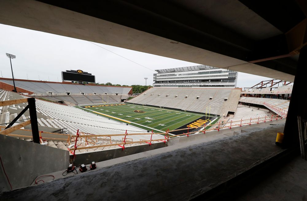 The view from the northeast corner of the club level  Wednesday, June 6, 2018 at Kinnick Stadium. (Brian Ray/hawkeyesports.com)