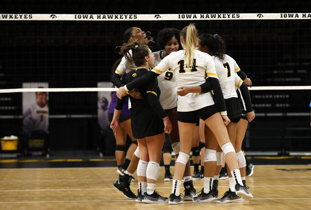 The Iowa Hawkeyes against the Northwestern Wildcats Wednesday, October 24, 2018 at Carver-Hawkeye Arena. (Brian Ray/hawkeyesports.com)