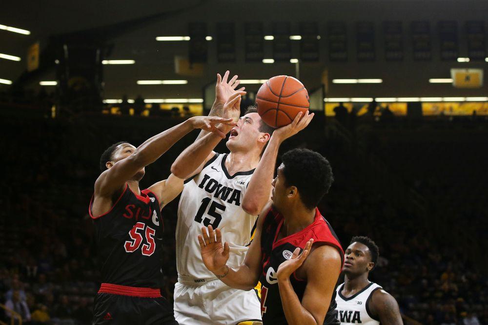 Iowa Hawkeyes forward Ryan Kriener (15) during Iowa men's basketball vs SIUE on Friday, November 8, 2019 at Carver-Hawkeye Arena. (Lily Smith/hawkeyesports.com)