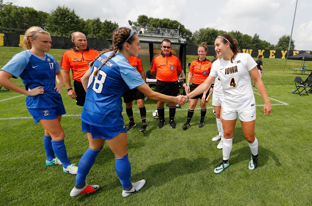 Iowa Hawkeyes Kaleigh Haus (4) against the Creighton Bluejays  Sunday, August 19, 2018 at the Iowa Soccer Complex. (Brian Ray/hawkeyesports.com)