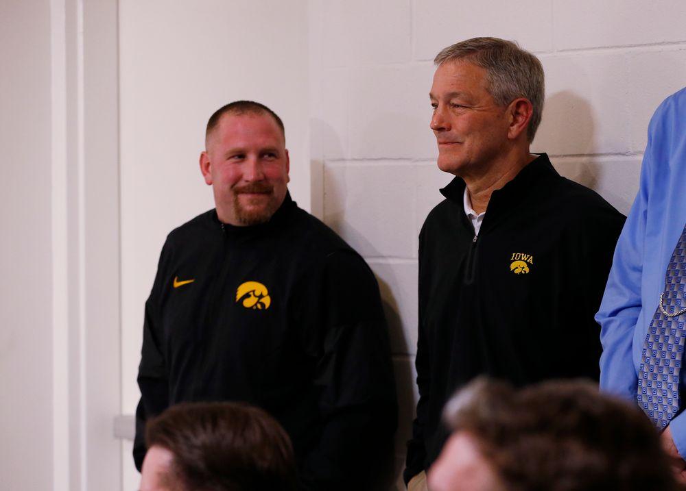 Head Coach Kirk Ferentz, Tim Polasek