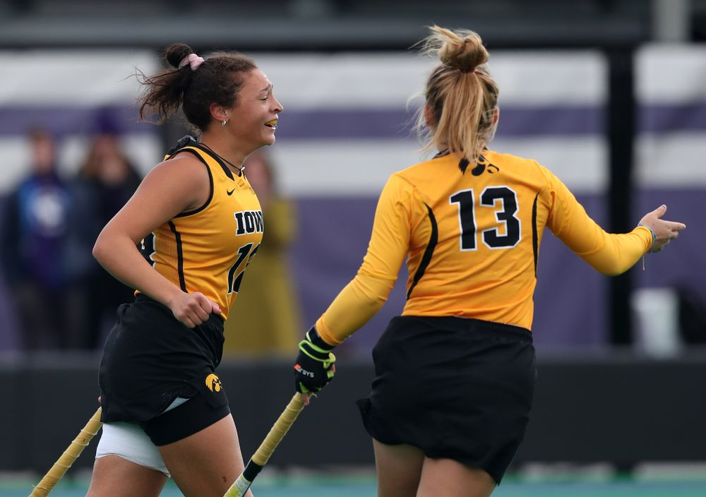 Iowa Hawkeyes Mya Christopher (18) scores against the Michigan Wolverines in the semi-finals of the Big Ten Tournament Friday, November 2, 2018 at Lakeside Field on the campus of Northwestern University in Evanston, Ill. (Brian Ray/hawkeyesports.com)