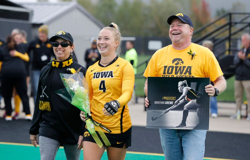 Iowa Hawkeyes Makenna Grewe (4) during senior day before their game against Maryland Sunday, October 14, 2018 at Grant Field. (Brian Ray/hawkeyesports.com)