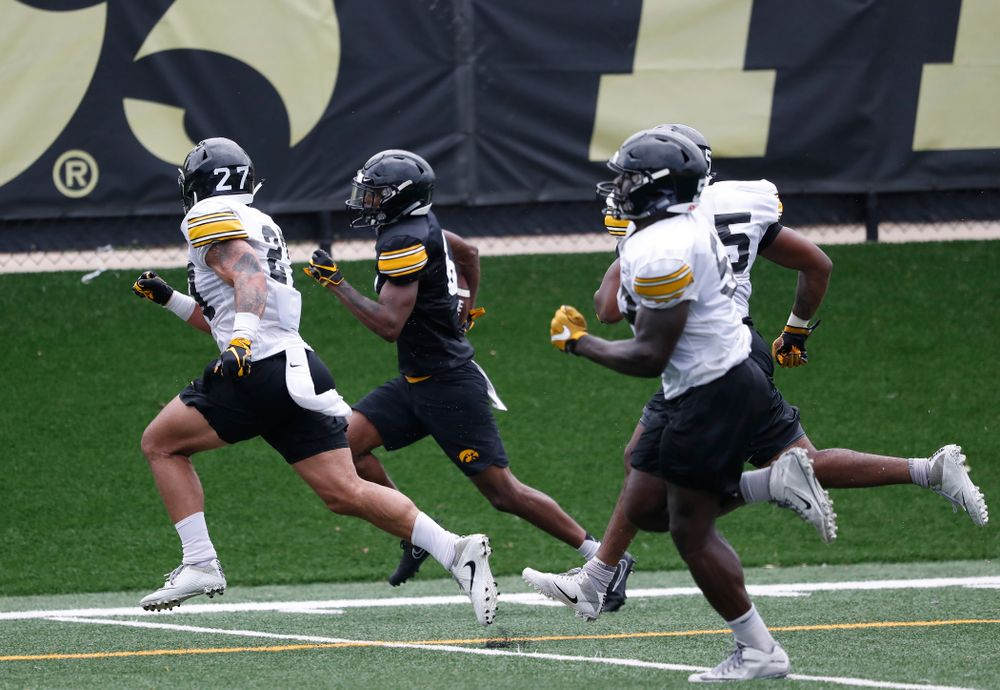 Iowa Hawkeyes wide receiver Ihmir Smith-Marsette (6) during practice No. 4 of Fall Camp Monday, August 6, 2018 at the Hansen Football Performance Center. (Brian Ray/hawkeyesports.com)