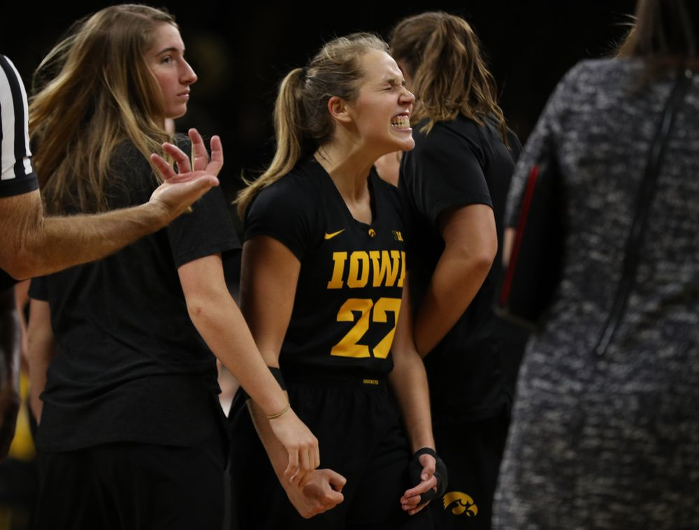 against the Iowa State Cyclones in the Iowa Corn Cy-Hawk Series Wednesday, December 5, 2018 at Carver-Hawkeye Arena. (Brian Ray/hawkeyesports.com)