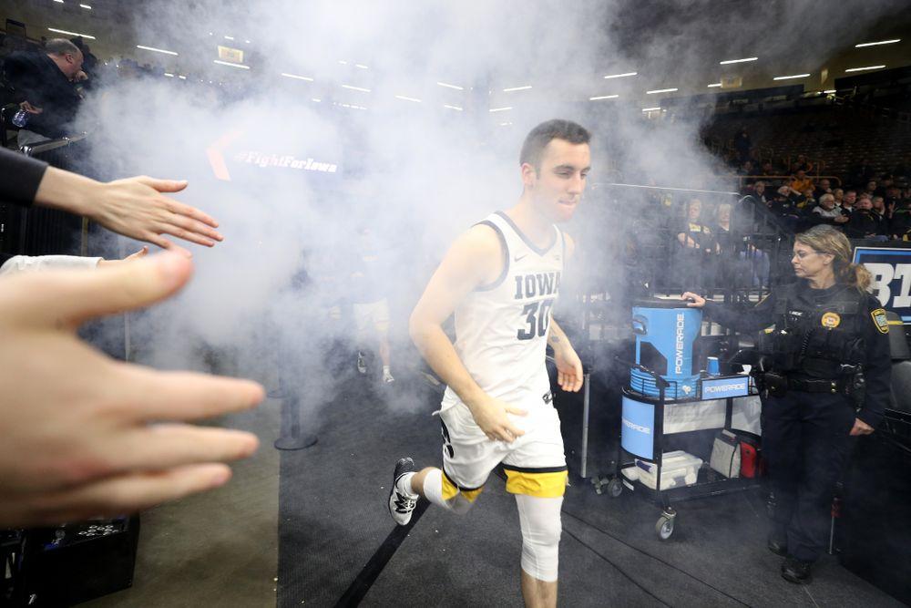 Iowa Hawkeyes guard Connor McCaffery (30) against the Minnesota Golden Gophers Monday, December 9, 2019 at Carver-Hawkeye Arena. (Brian Ray/hawkeyesports.com)