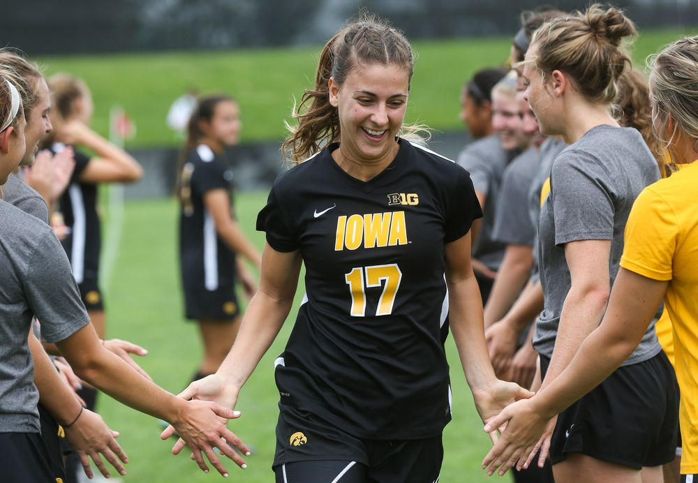 Iowa Hawkeyes defender Hannah Drkulec (17)