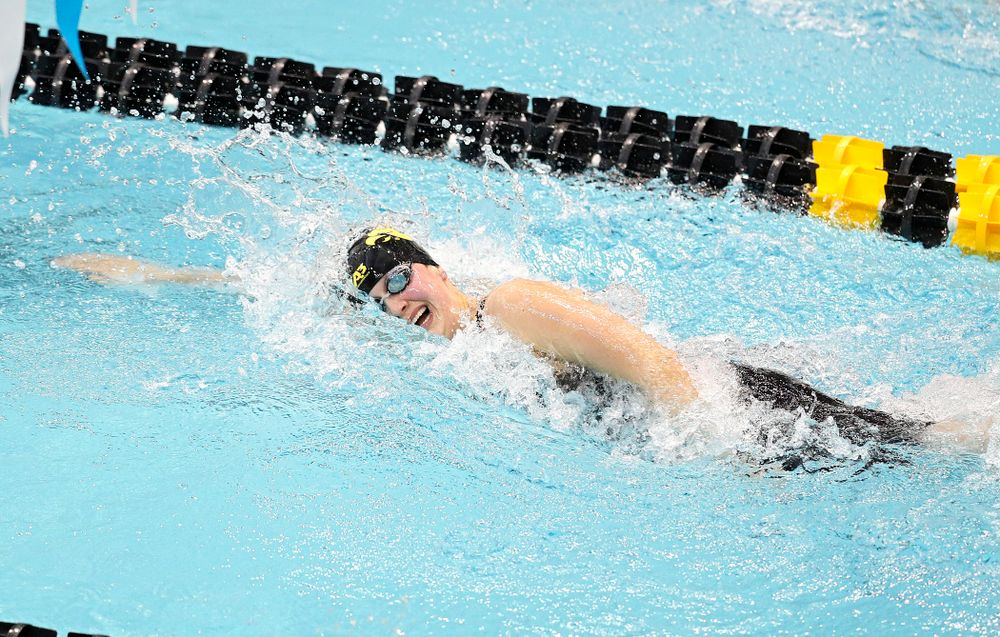 Iowa's Hannah Burvill swims the women's 200 yard freestyle preliminary event during the 2020 Women's Big Ten Swimming and Diving Championships at the Campus Recreation and Wellness Center in Iowa City on Friday, February 21, 2020. (Stephen Mally/hawkeyesports.com)