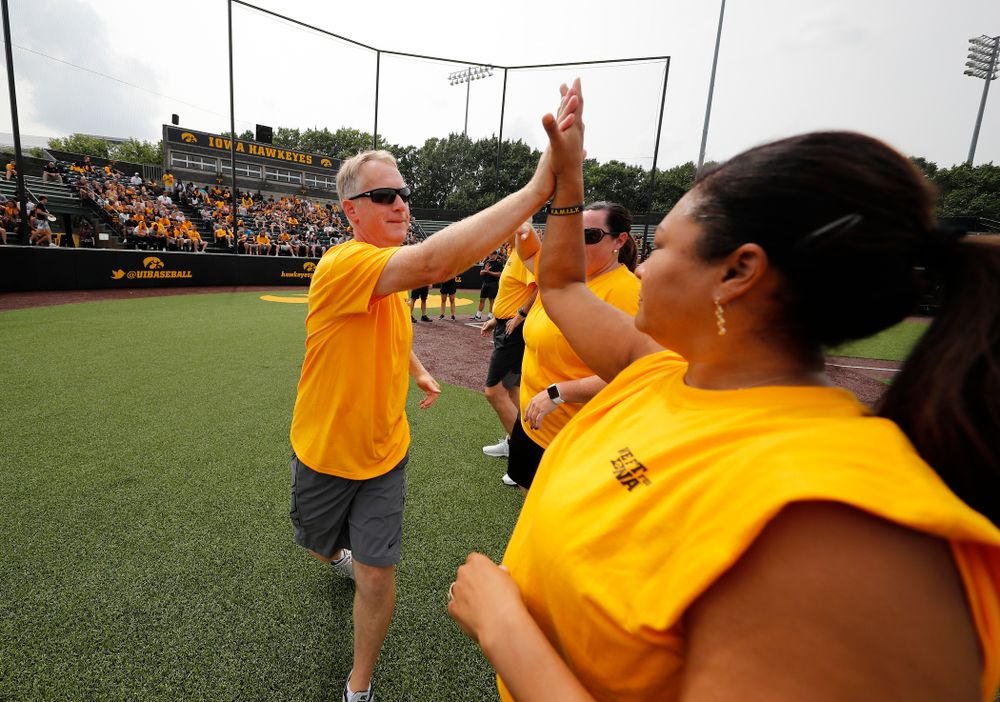 Head Rowing Coach Andrew Carter during the Iowa Student Athlete Kickoff Kickball game  Sunday, August 19, 2018 at Duane Banks Field. (Brian Ray/hawkeyesports.com)