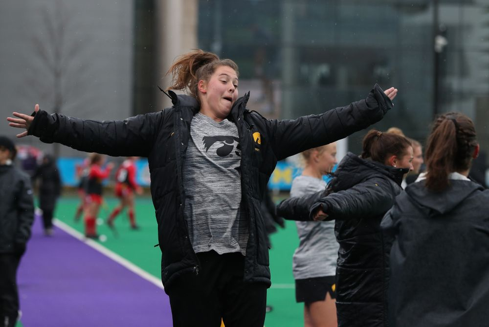 Iowa Hawkeyes Grace McGuire (62) against Maryland during the championship game of the Big Ten Tournament Sunday, November 4, 2018 at Lakeside Field in Evanston, Ill. (Brian Ray/hawkeyesports.com)