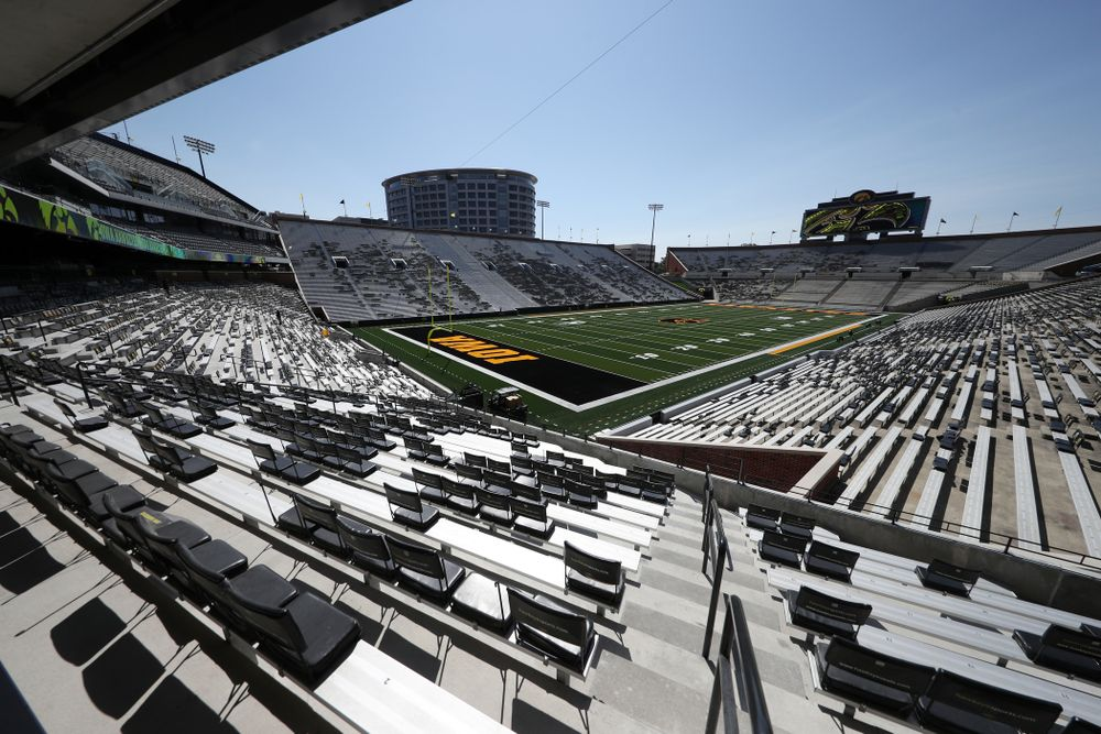 The view from the new north end zone of Kinnick Stadium Friday, August 9, 2019. (Brian Ray/hawkeyesports.com)