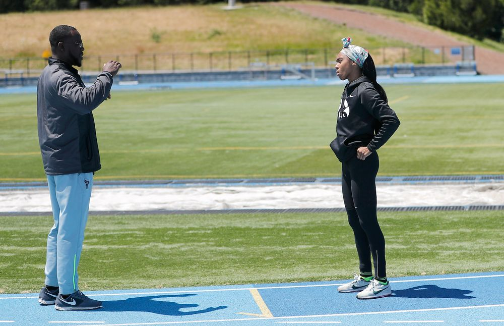 Coach Clive Roberts, Briana Guillory