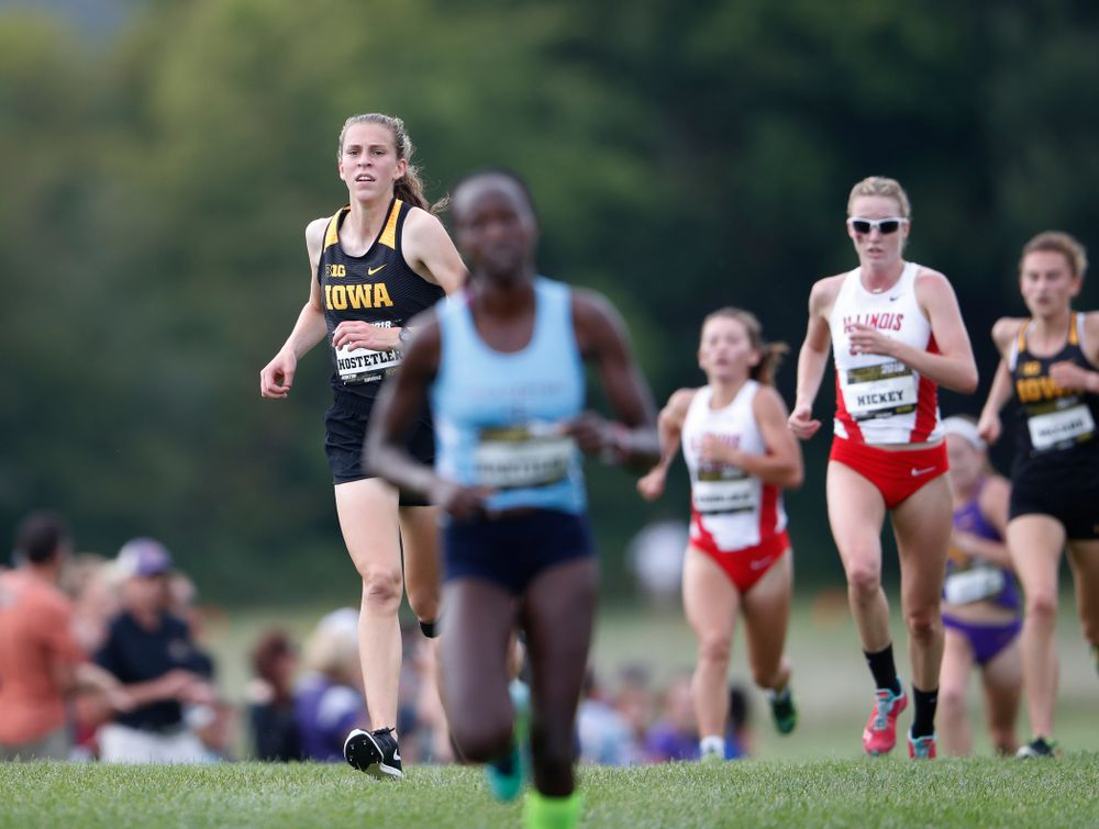 Anna Hostetler during the Hawkeye Invitational Friday, August 31, 2018 at the Ashton Cross Country Course.  (Brian Ray/hawkeyesports.com)
