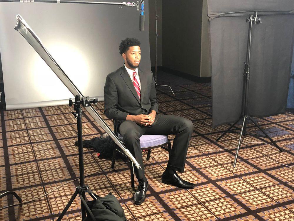 Isaiah Moss Big Ten Men's Basketball Media Day