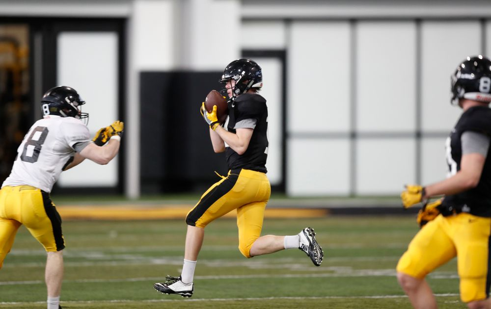 Iowa Hawkeyes wide receiver Max Cooper (19) Wednesday, April 4, 2018 at the Hansen Football Performance Center. (Brian Ray/hawkeyesports.com)