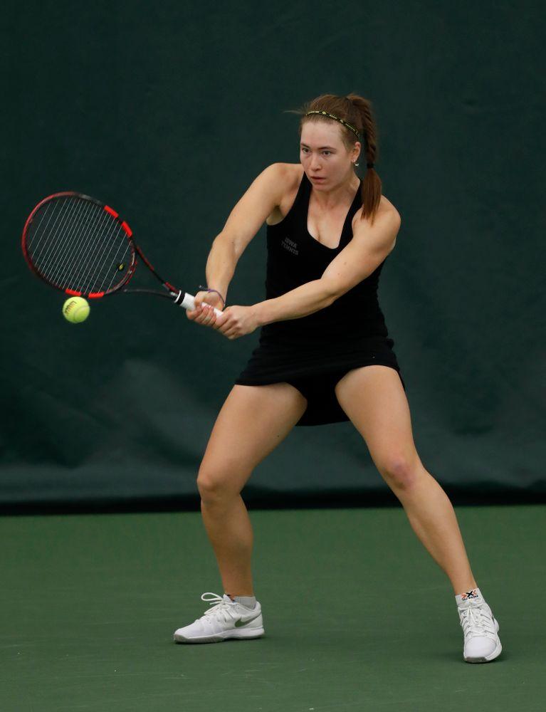 Iowa's Anastasia Reimchen against Marquette
