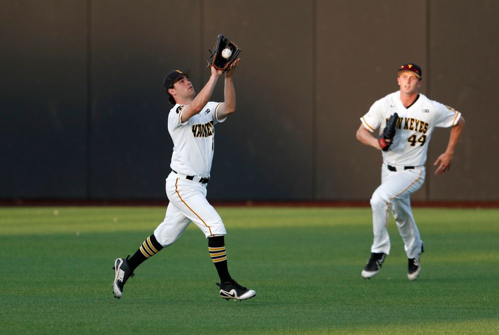 Iowa Hawkeyes outfielder Justin Jenkins (6) against the Penn State Nittany Lions  Thursday, May 17, 2018 at Duane Banks Field. (Brian Ray/hawkeyesports.com)