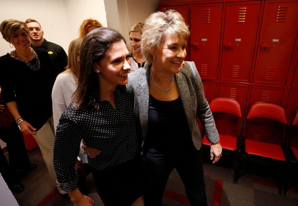 Iowa Hawkeyes head coach Lisa Bluder and director of basketball operations Kathryn Reynolds