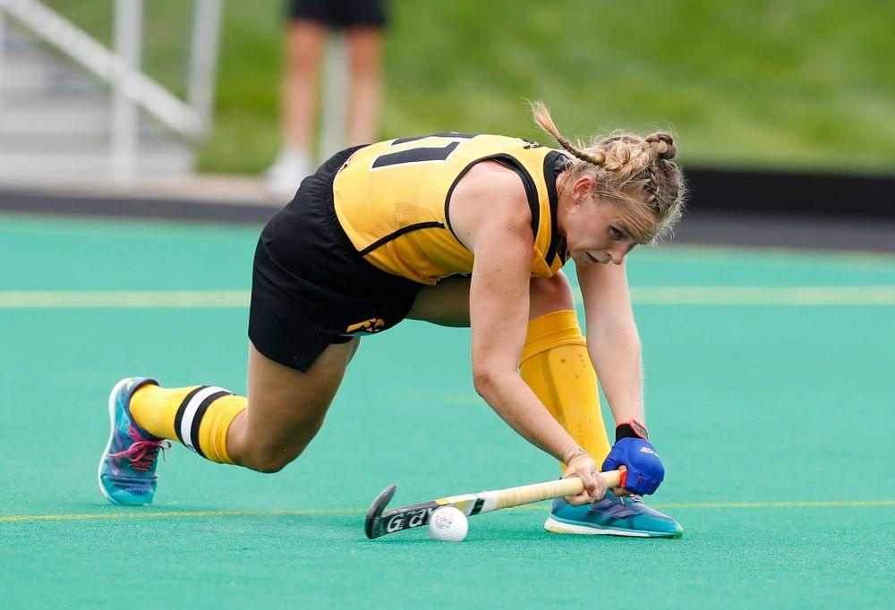 Iowa Hawkeyes Katie Birch (11) against Ball State Sunday, September 2, 2018 at Grant Field. (Brian Ray/hawkeyesports.com)
