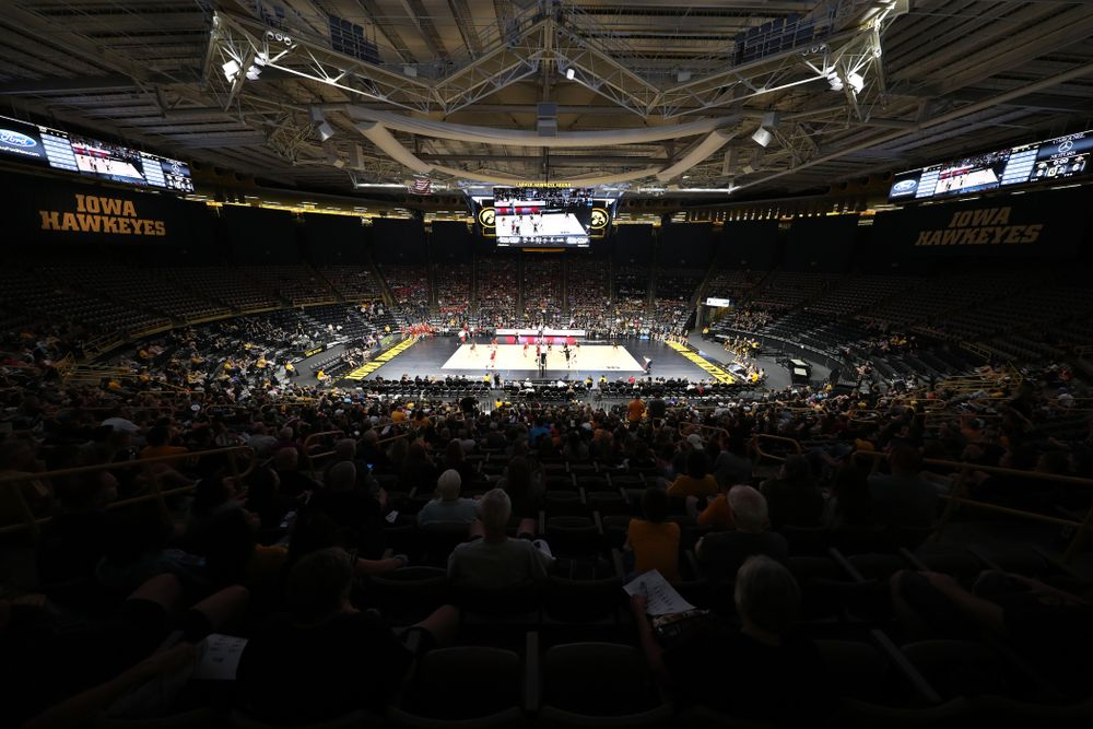 The Iowa Hawkeyes against the Iowa State Cyclones Saturday, September 21, 2019 at Carver-Hawkeye Arena. (Brian Ray/hawkeyesports.com)
