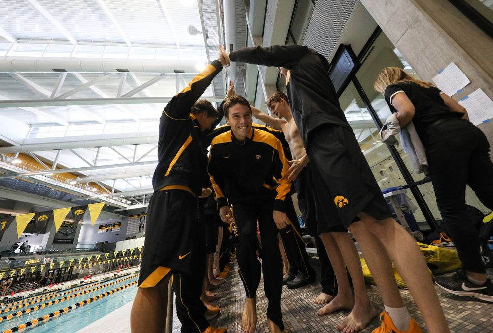 Matt Kamin is introduced during senior day before a double dual against Wisconsin and Northwestern Saturday, January 19, 2019 at the Campus Recreation and Wellness Center. (Brian Ray/hawkeyesports.com)