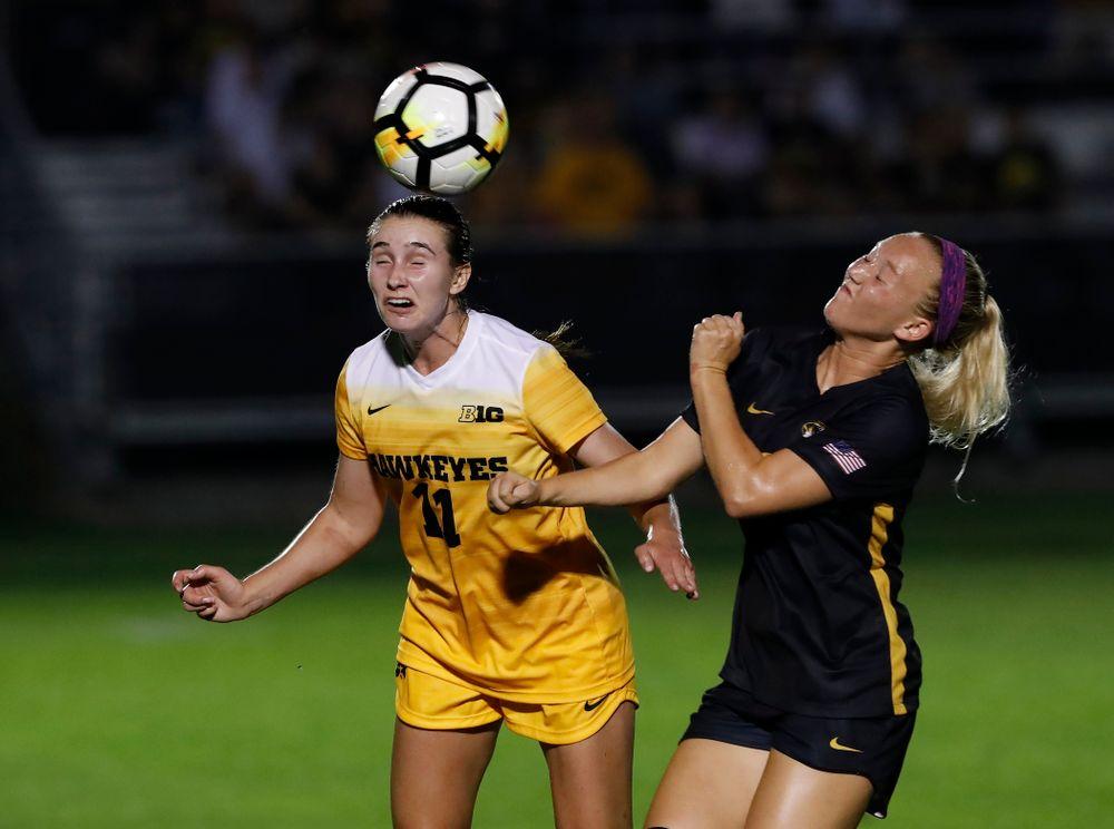 Iowa Hawkeyes Sydney Blitchok (11) against the Missouri Tigers Friday, August 17, 2018 at the Iowa Soccer Complex. (Brian Ray/hawkeyesports.com)