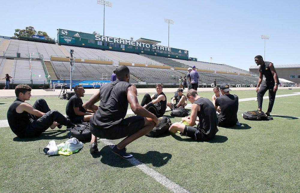 NCAA West Preliminary practice at Hornet Stadium at University of California, Sacramento, on May 23, 2018.