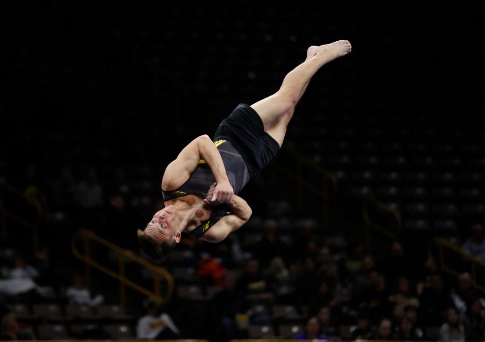 Kulani Taylor competes on the floor against Illinois